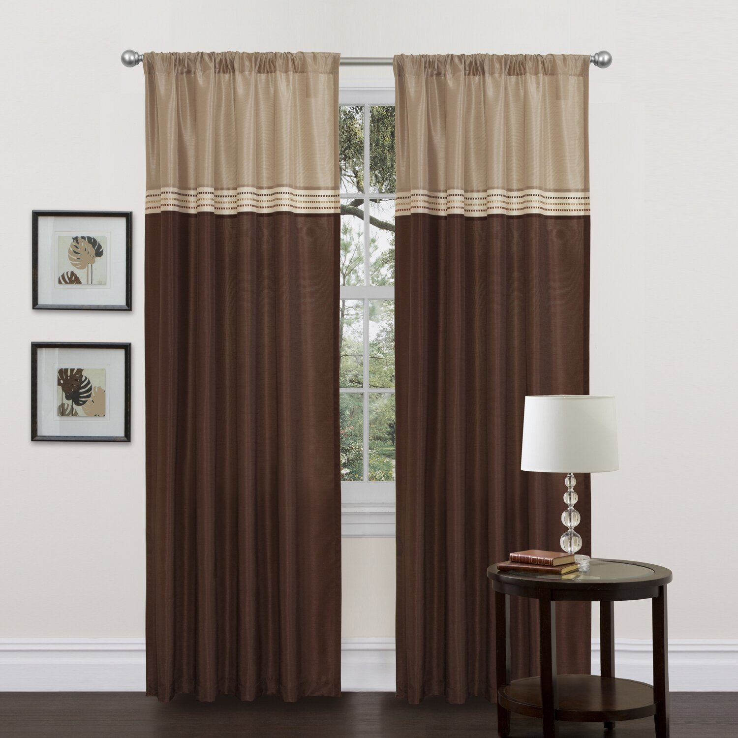 edition by lush decor terra synthetic rod pocket curtain panel pair