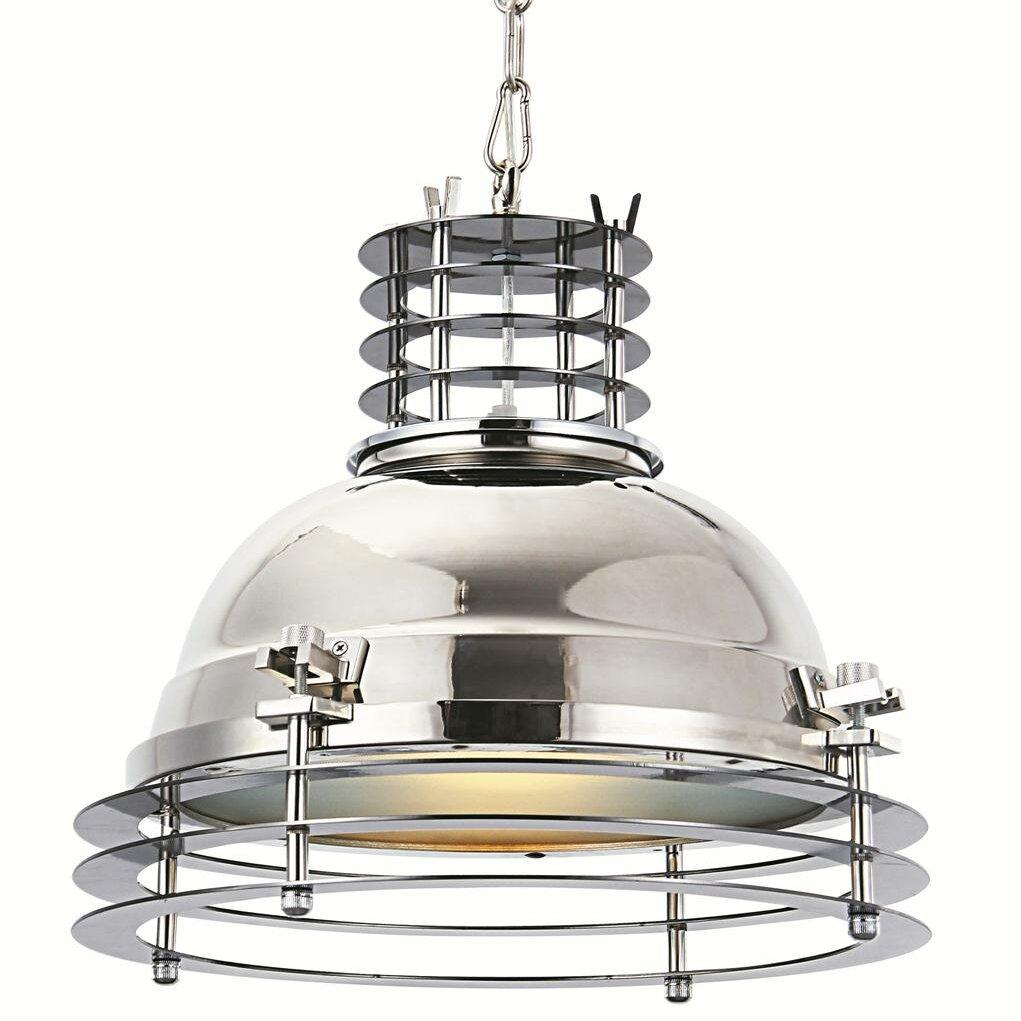 Industrial 1 light foyer pendant wayfair for Wayfair industrial lamp