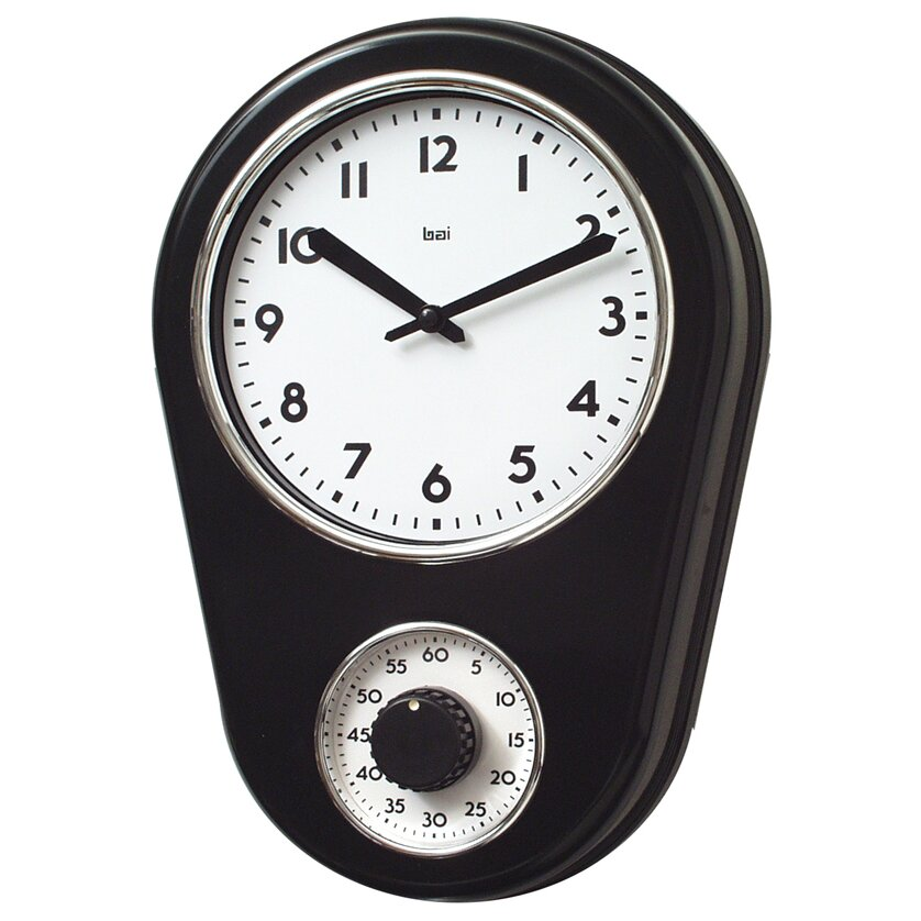 Bai design 8 5 kitchen timer retro modern wall clock - Modern clocks for kitchen ...