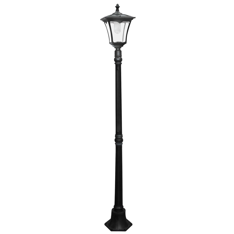 "Solar LED Powered 1 Light 80"" Post Lantern Set"