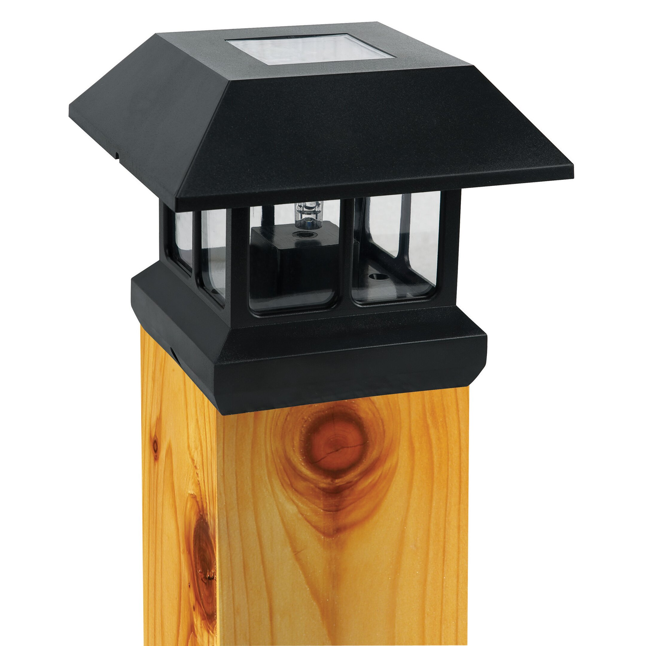 paradise garden lighting solar led fence post cap. Black Bedroom Furniture Sets. Home Design Ideas