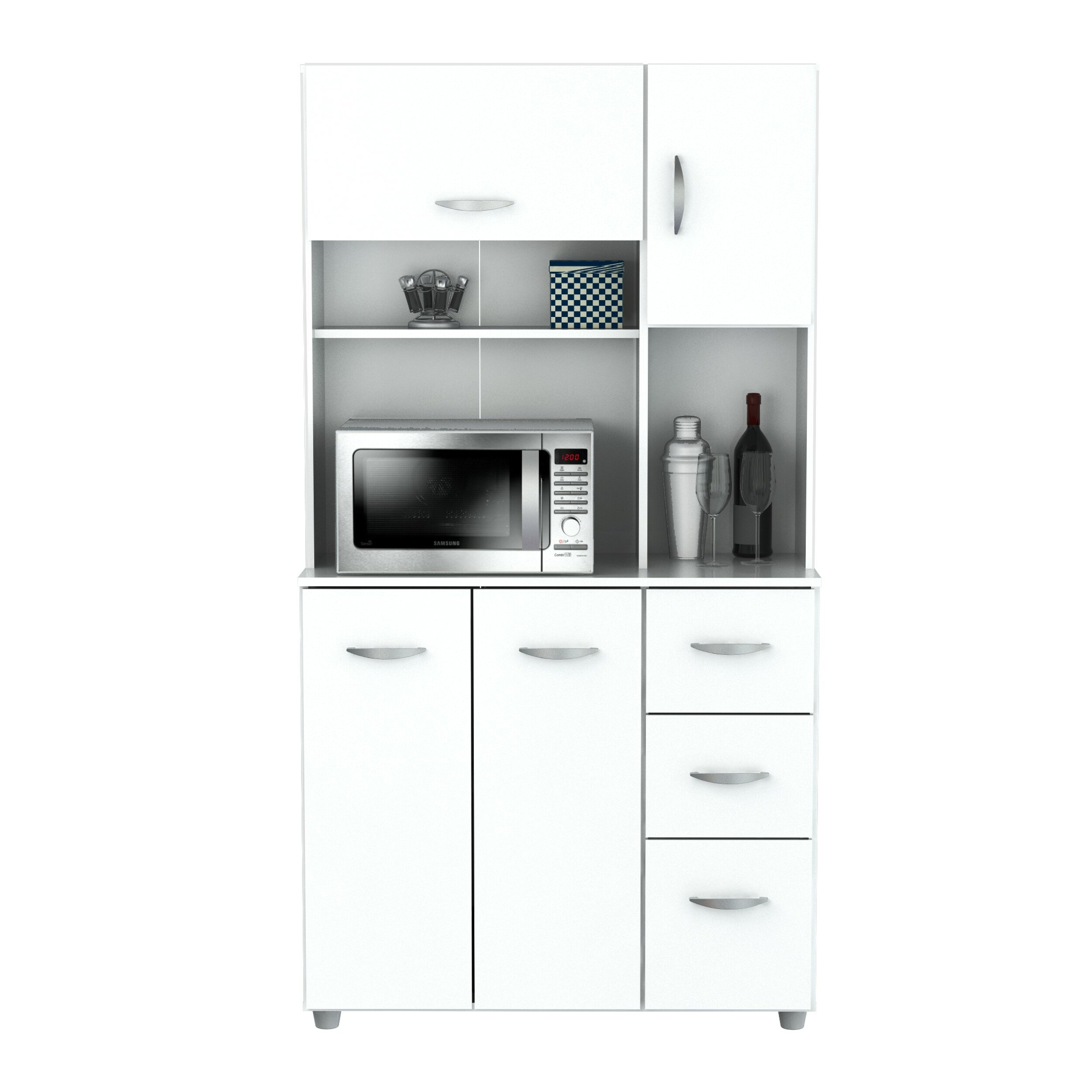 Inval 66 kitchen pantry reviews wayfair for Wayfair kitchen cabinets
