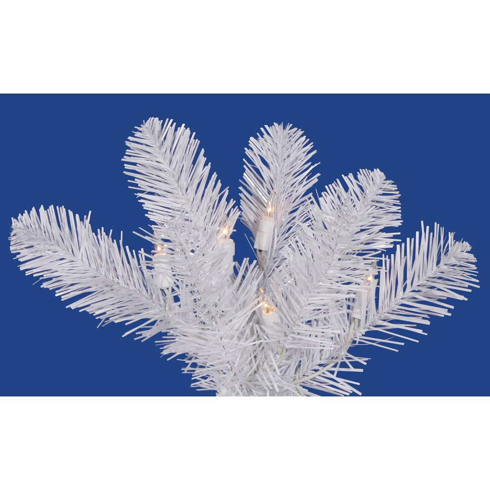 Vickerman White Salem Pencil Pine 7.5' Artificial ...