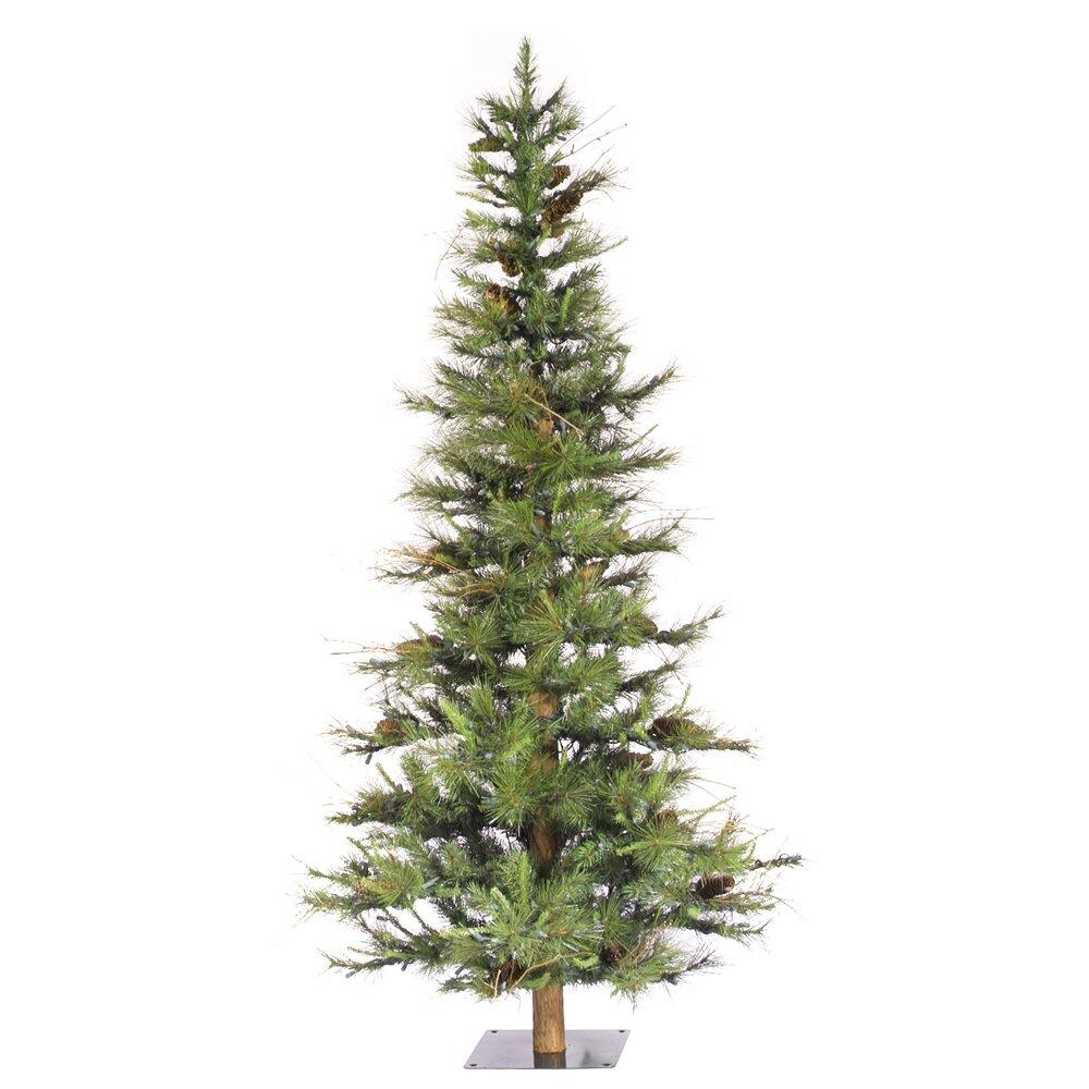 Vickerman Ashland Wood Trunk Tree With Tips An 6 Green