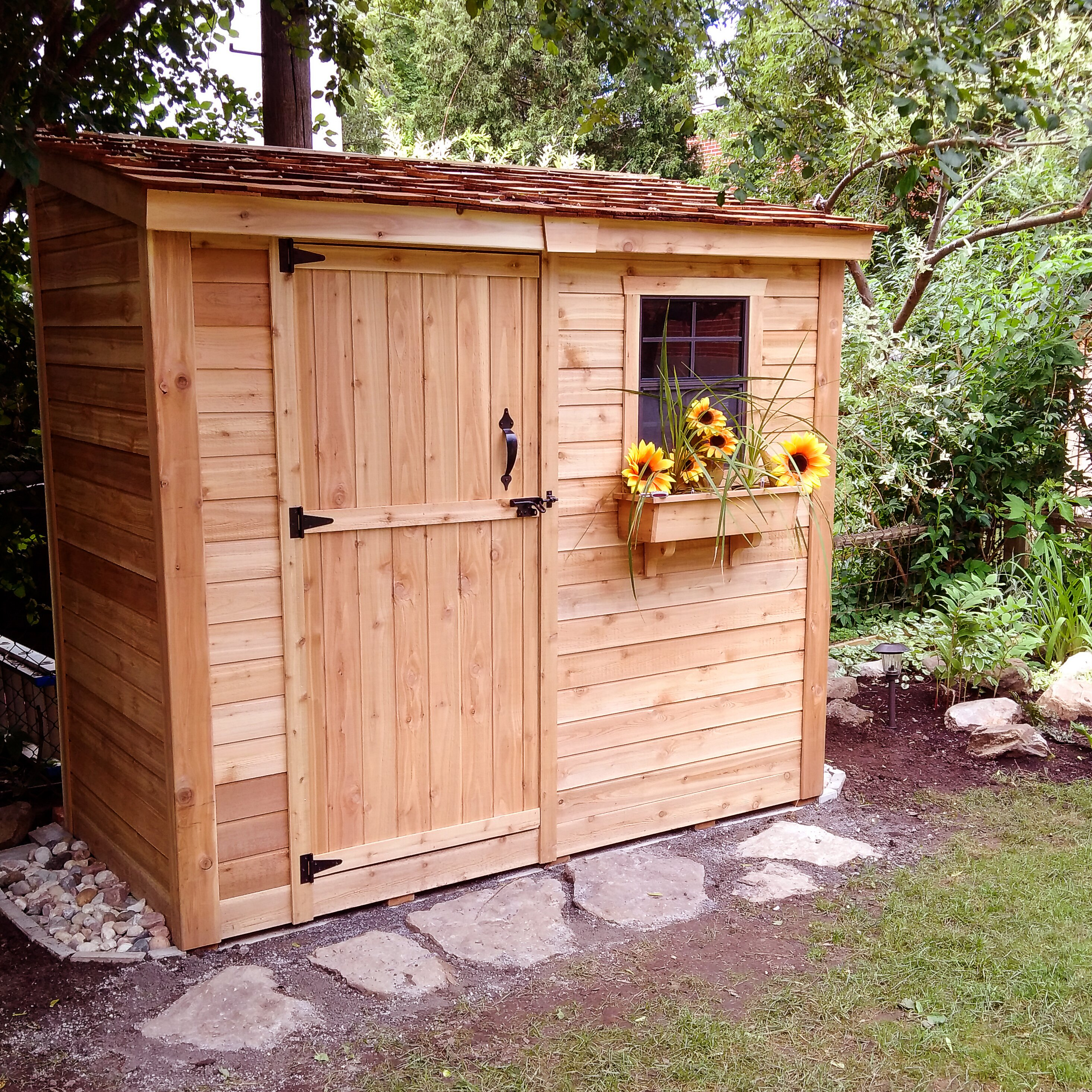 SpaceSaver 8 Ft. W X 4 Ft. D Wood Lean-To Shed