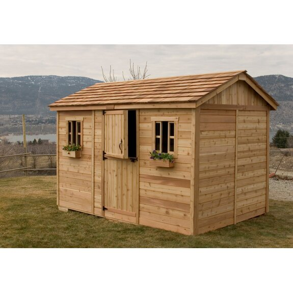 Cabana 12 Ft. W x 8 Ft. D Wood Garden Shed   Wayfair on Outdoor Living Today Cabana id=28388