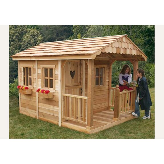 Game Room Man Cave: Sunflower Playhouse With 3 Functional Window And Cedar