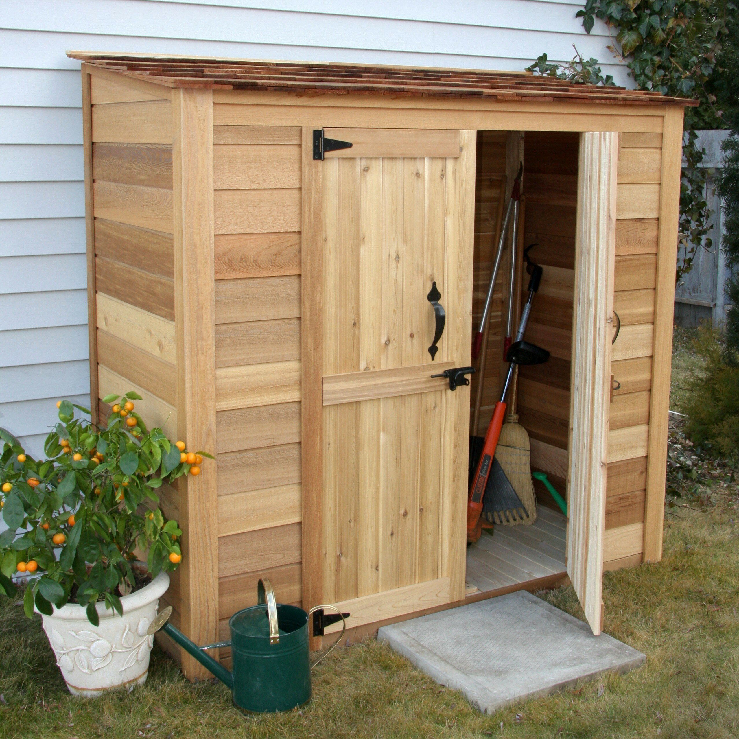 Chalet Nursery And Garden Center: Garden Chalet 6 Ft. W X 3 Ft. D Wood Lean-To Shed