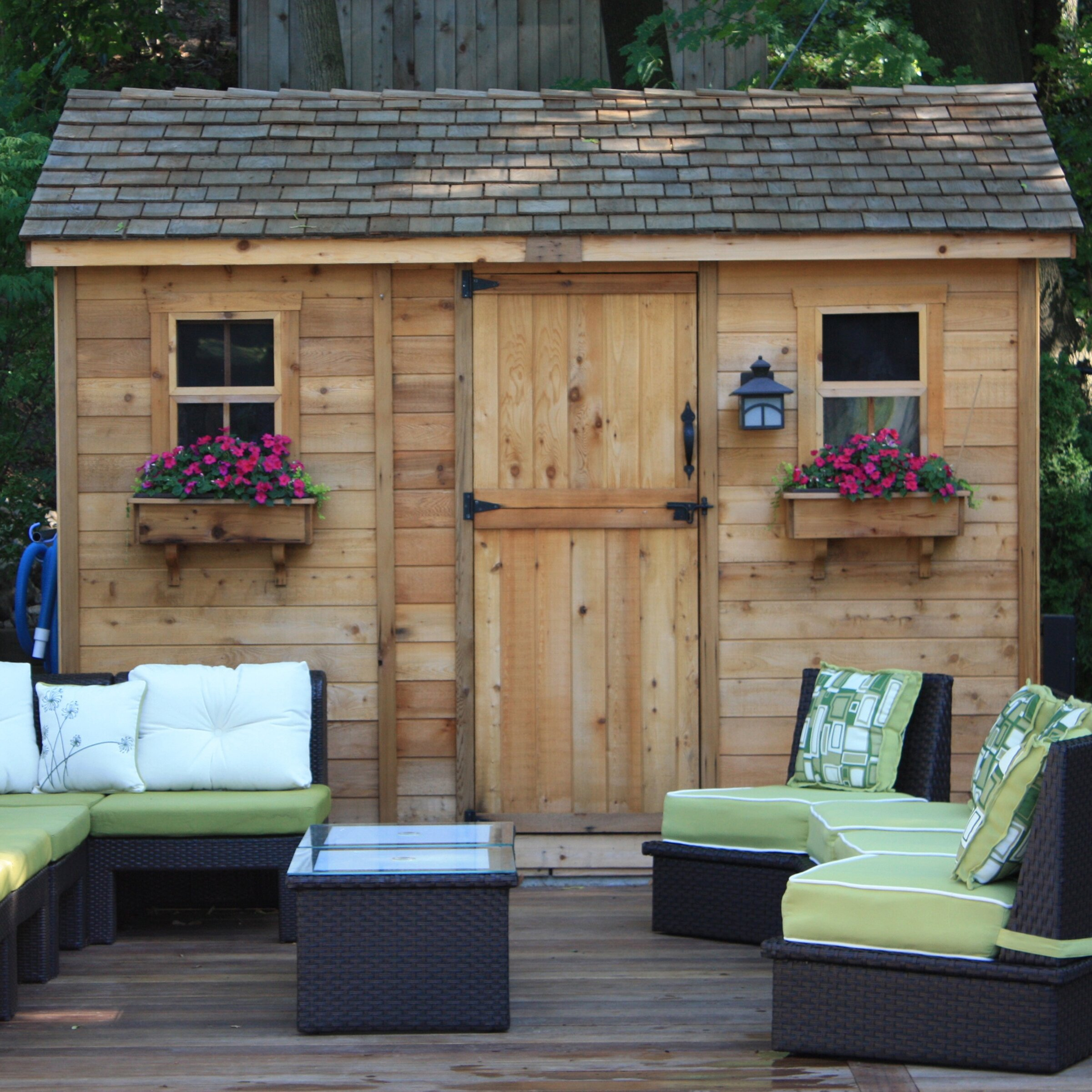 Cabana 12 Ft. W x 8 Ft. D Wood Garden Shed   Wayfair on Outdoor Living Today Cabana id=35824