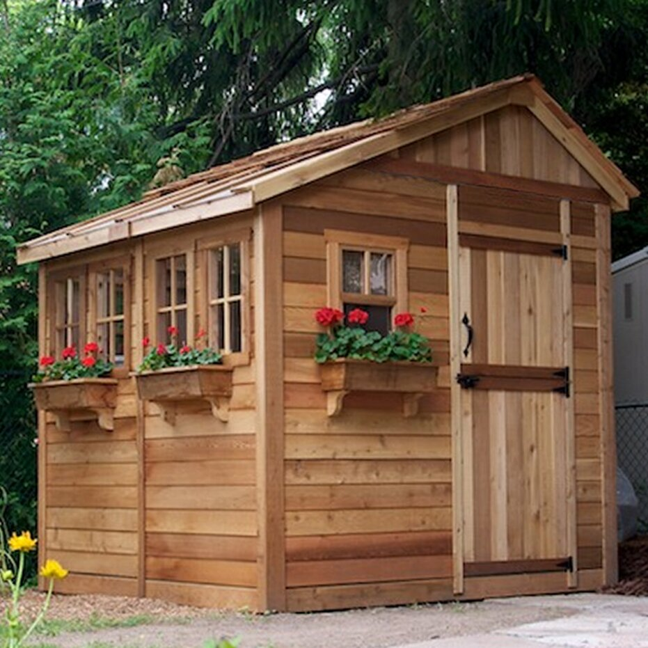 Sunshed 8 Ft. W x 8 Ft. D Wood Garden Shed | Wayfair on Outdoor Living Today Sunshed id=87524