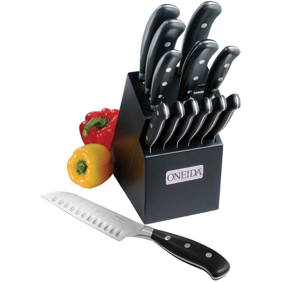 oneida cutlery 14 piece classic triple rivet pistol handle oneida stainless steel 4 piece steak knives knives