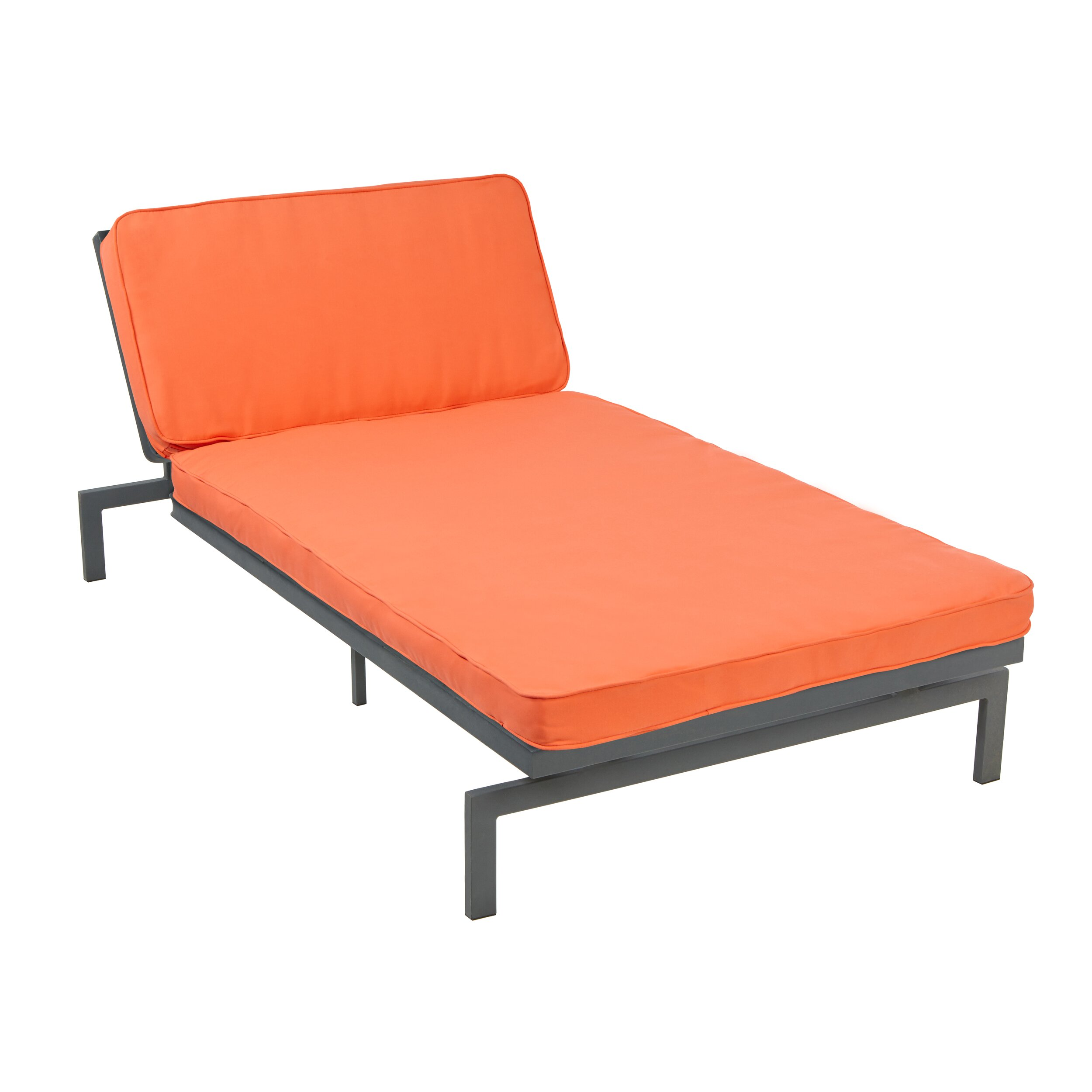 Mozaic company alexa chaise lounge with cushion reviews for Chaise lounge company