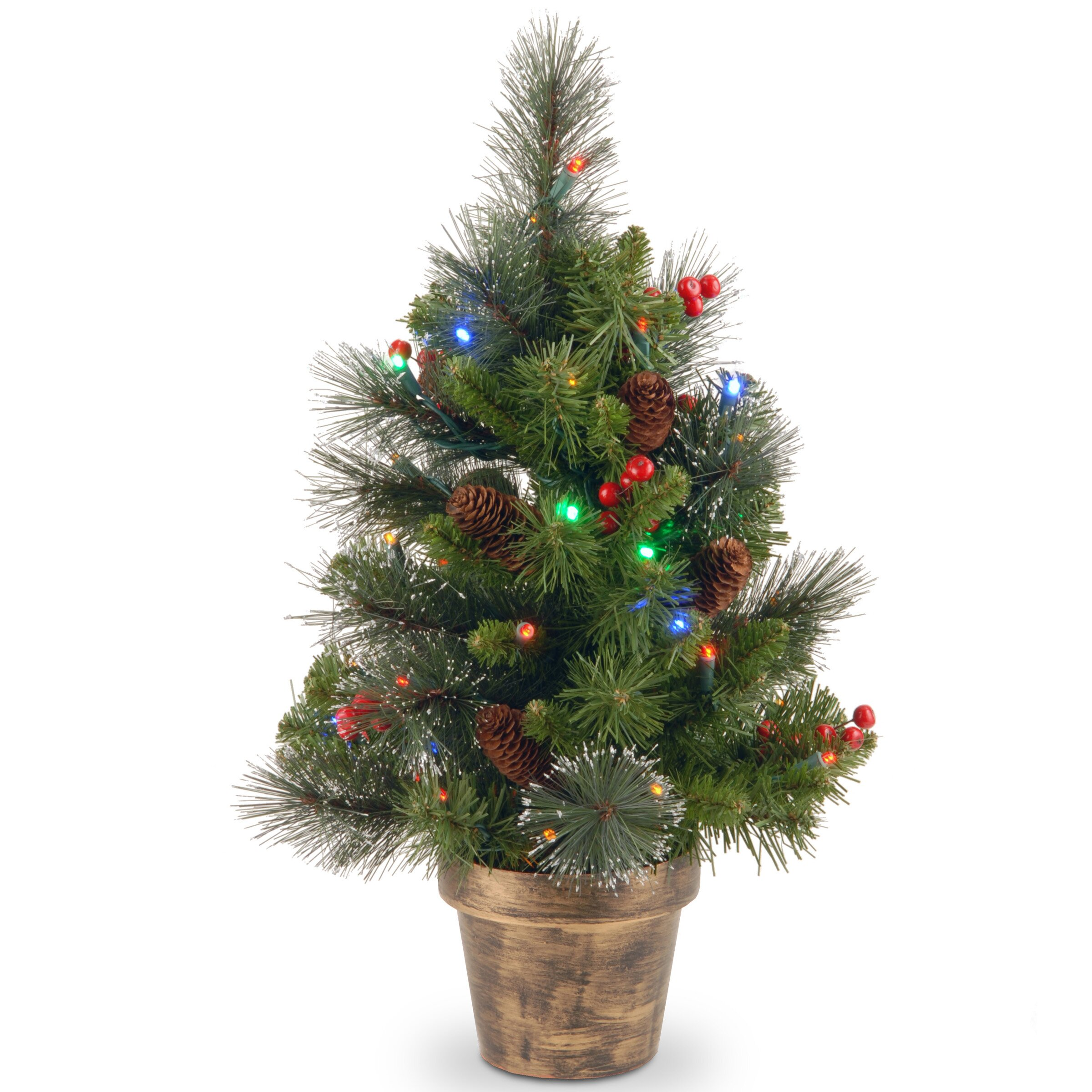 Crestwood Spruce 2 Green Small Artificia Christmas Tree