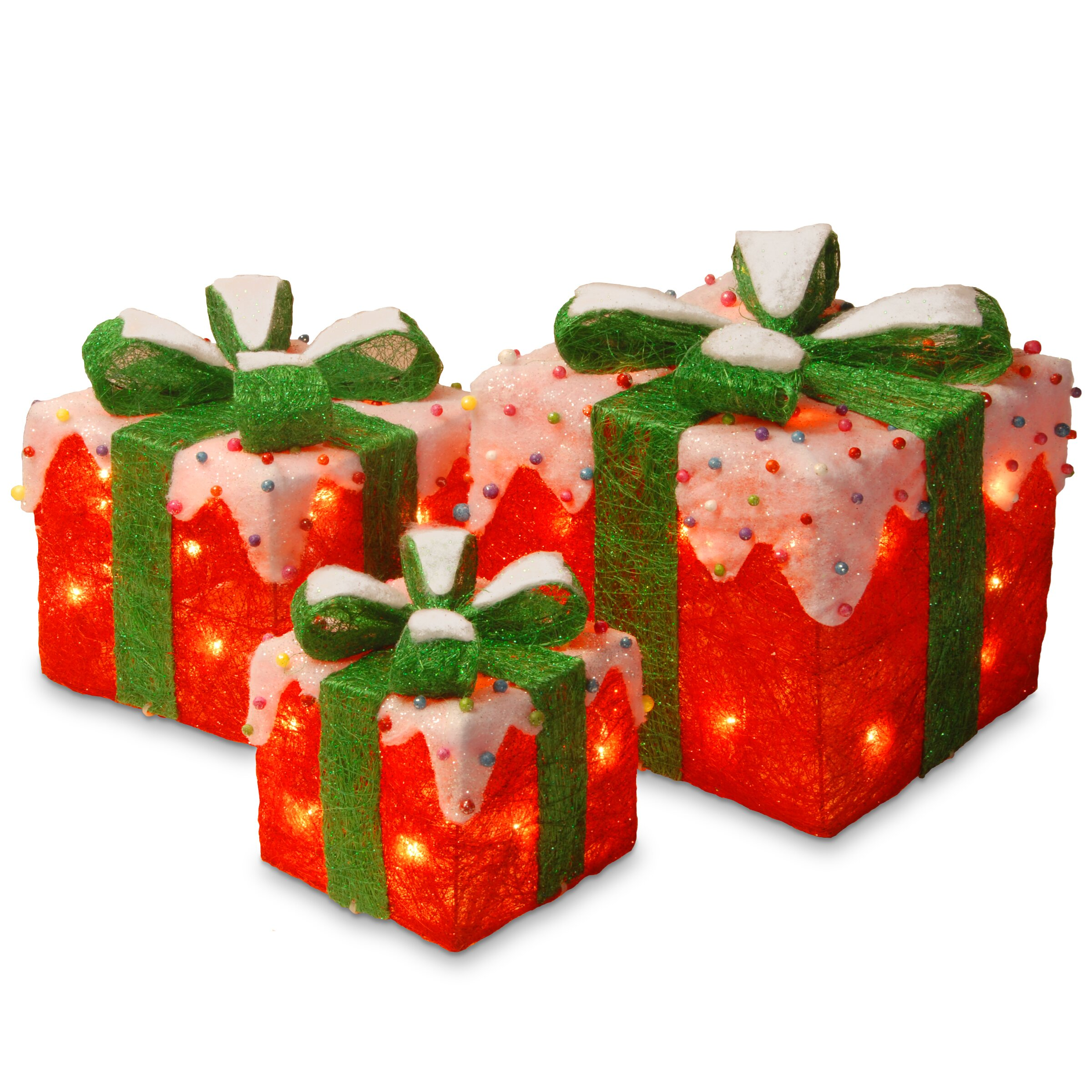 National Tree Co. Decorative Décor 3 Piece Gift Box