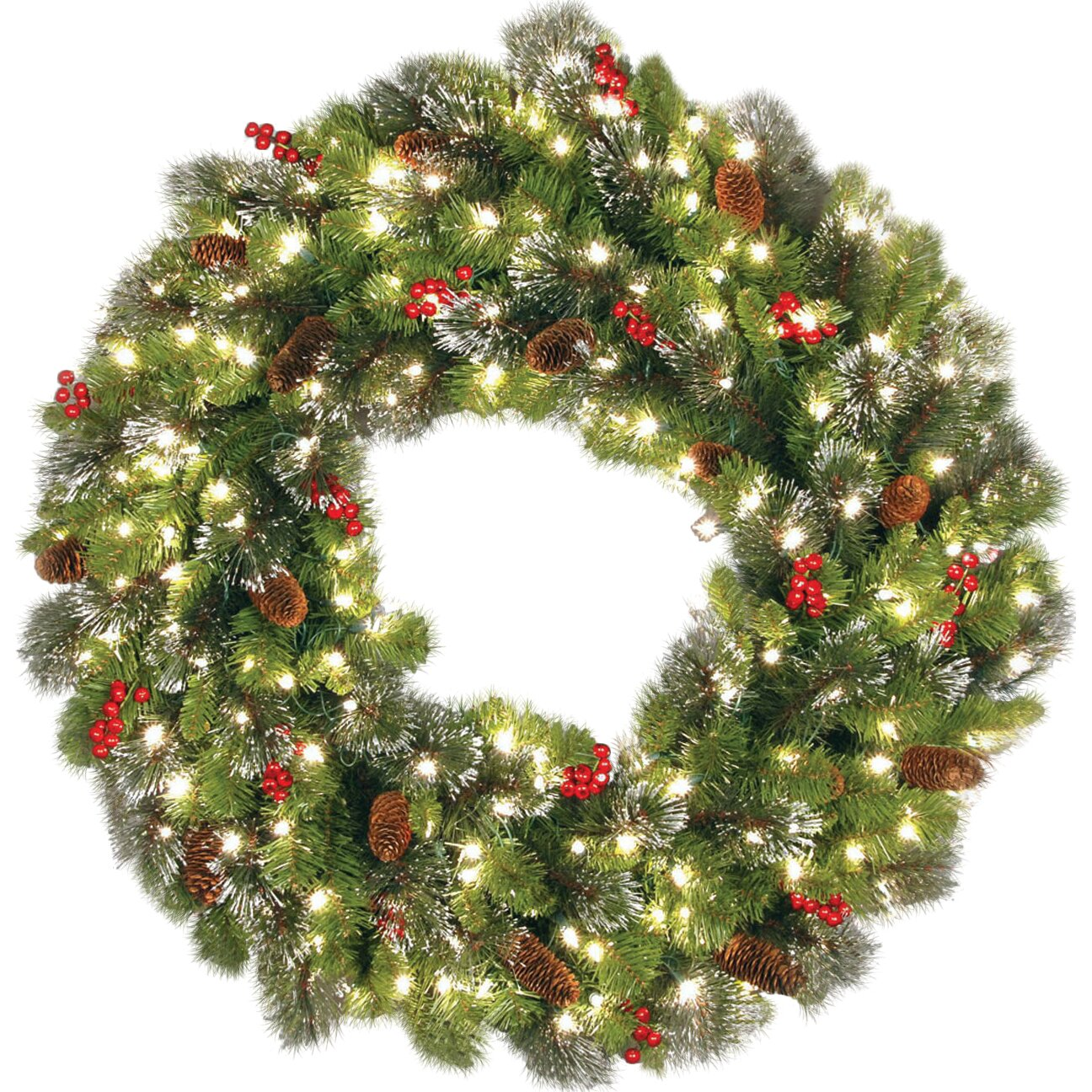 Crestwood Spruce Wreath w/50 Clear Lights