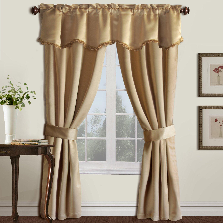 United Curtain Co. 5 Piece Burlington Rod Pocket Curtain Set & Reviews ...