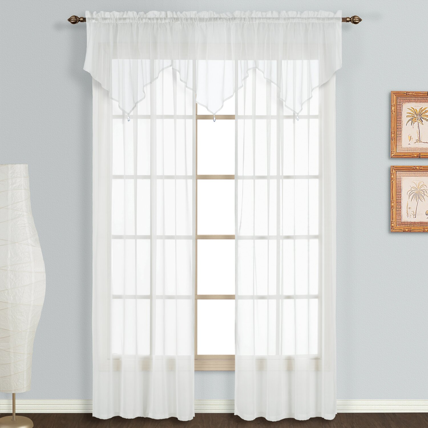 United Curtain Co Monte Carlo Ascot 40 Quot Curtain Valance