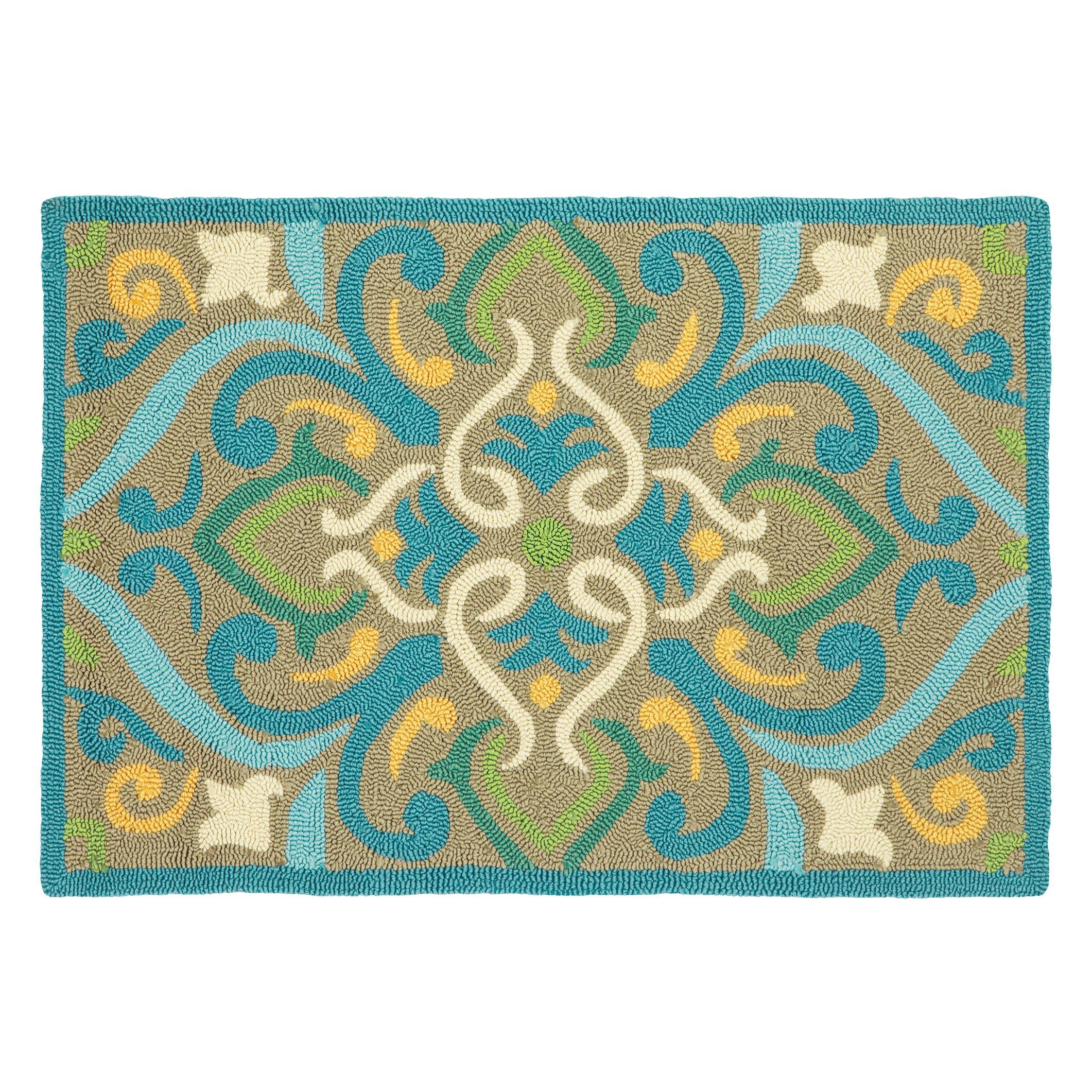Zoubir Turquoise Area Rug Reviews: Company C Morocco Aqua Area Rug & Reviews