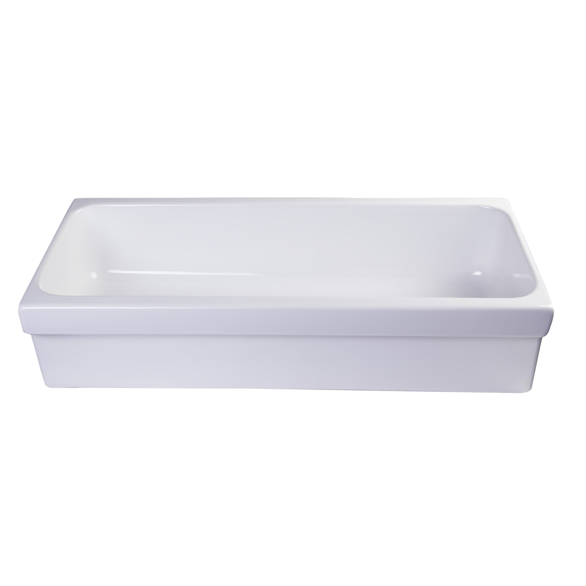 35 5 Above Mount Porcelain Bath Trough Sink Wayfair