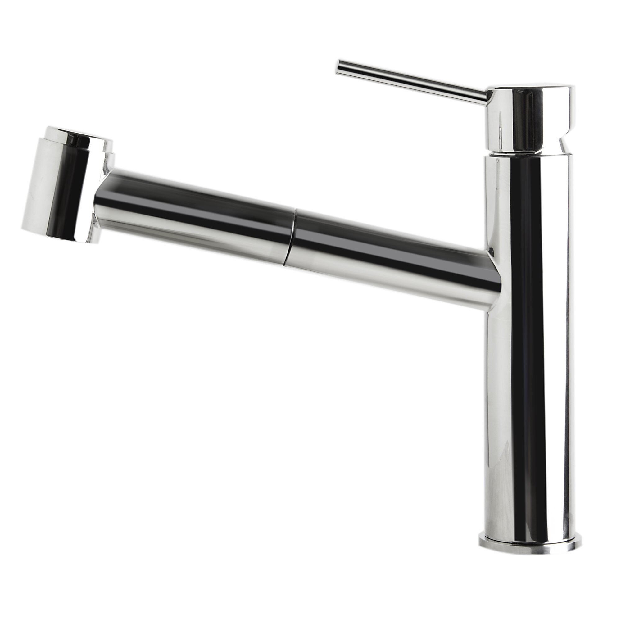 kitchen faucet with pull out spray wayfair yp77kpo bn jpg