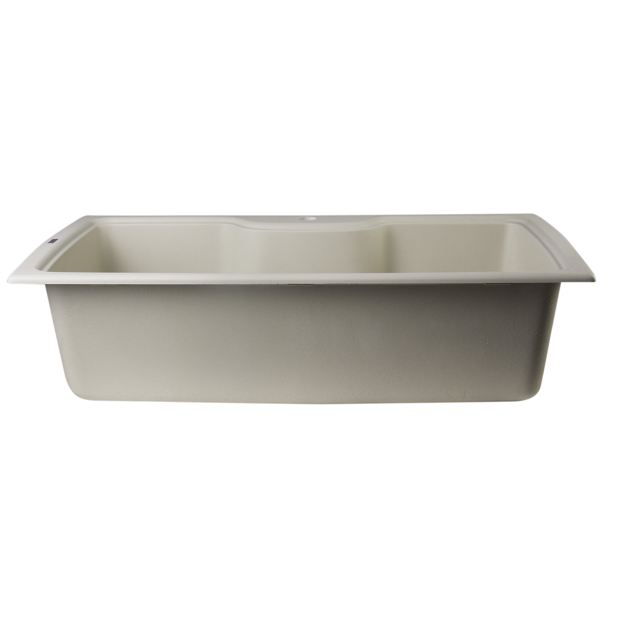 "34 63"" x 19 69"" Drop In Single Bowl Kitchen Sink"