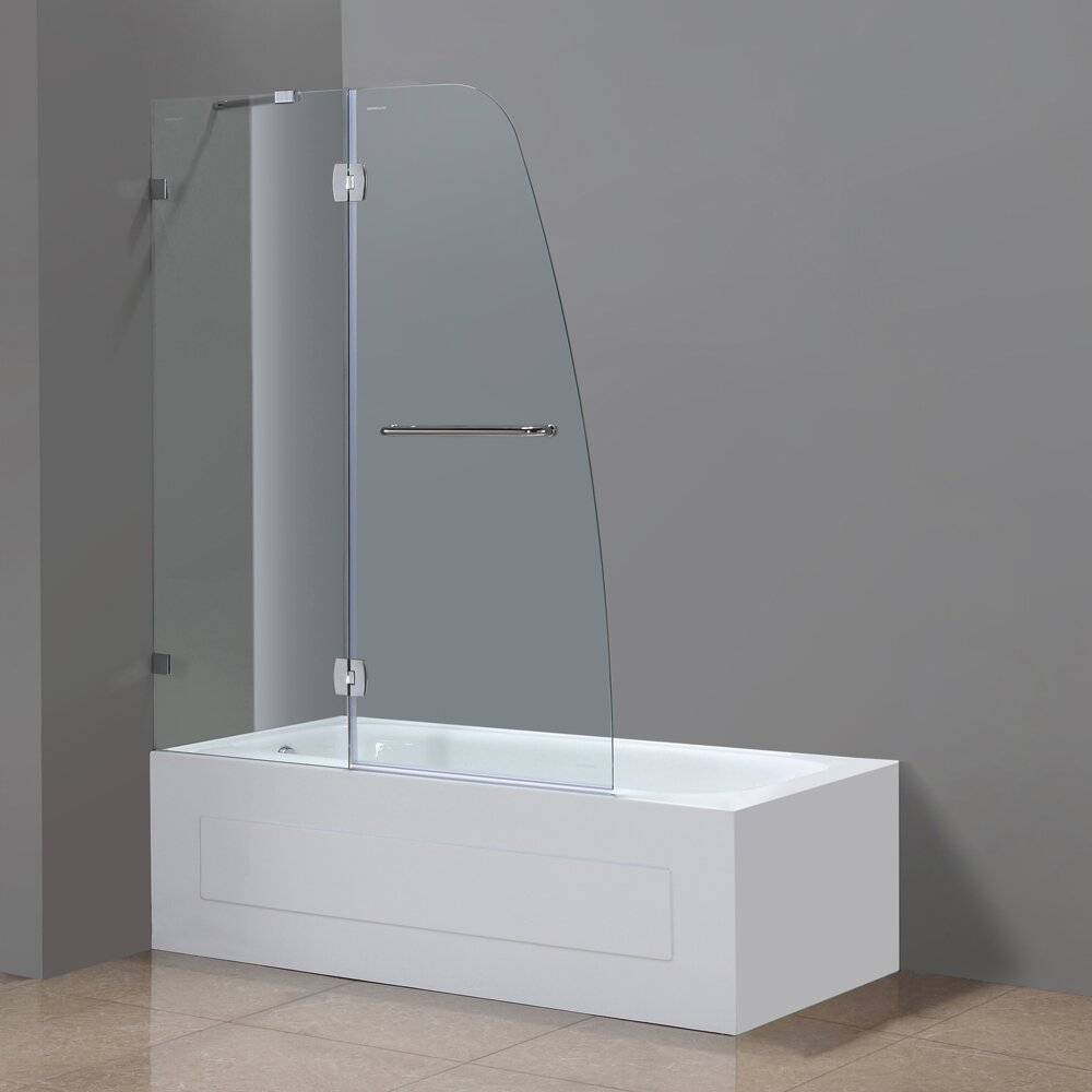 Soleil 58 Quot X 48 Quot Completely Frameless Tub Height Hinged