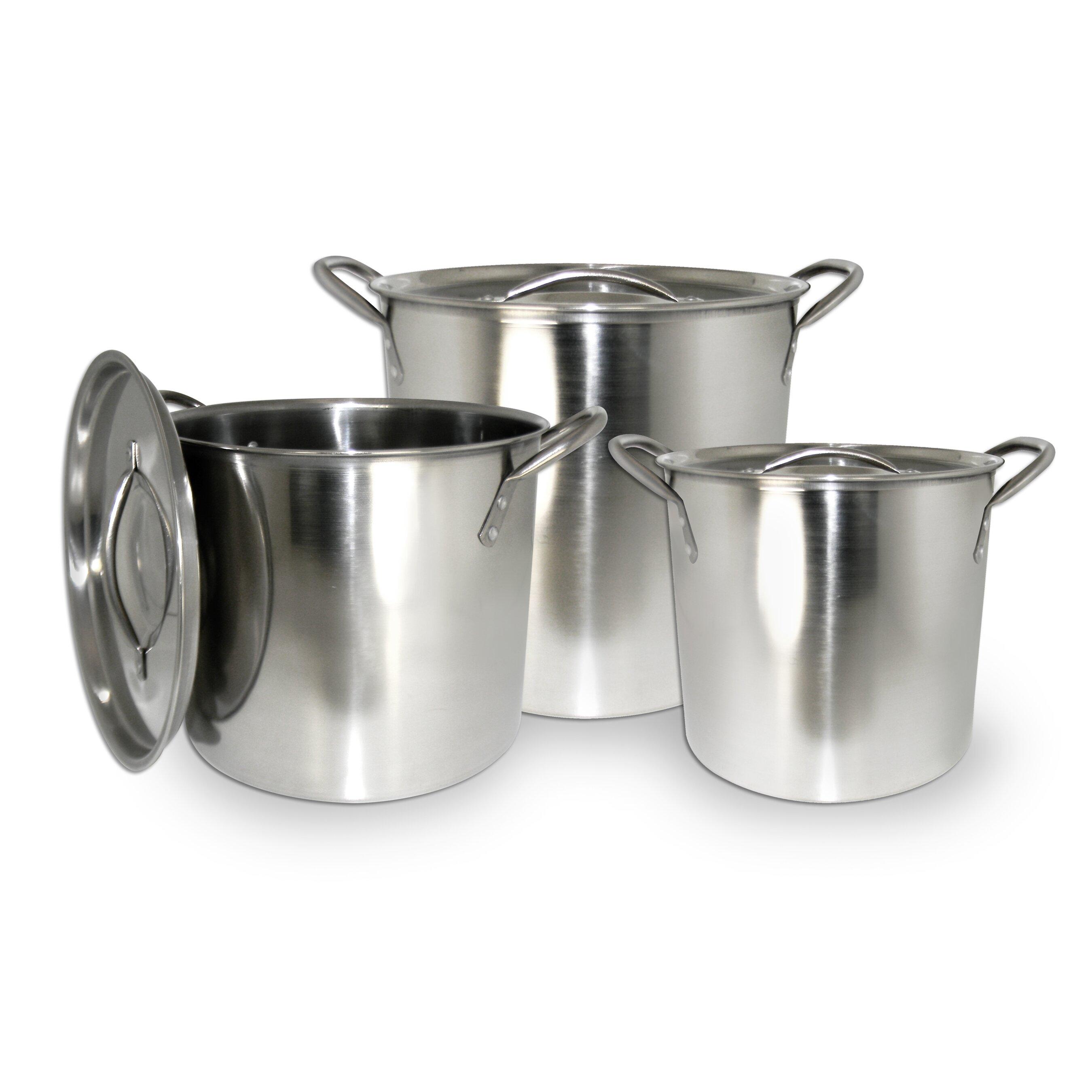 Cook Pro 6 Piece Stock Pot Set Amp Reviews Wayfair