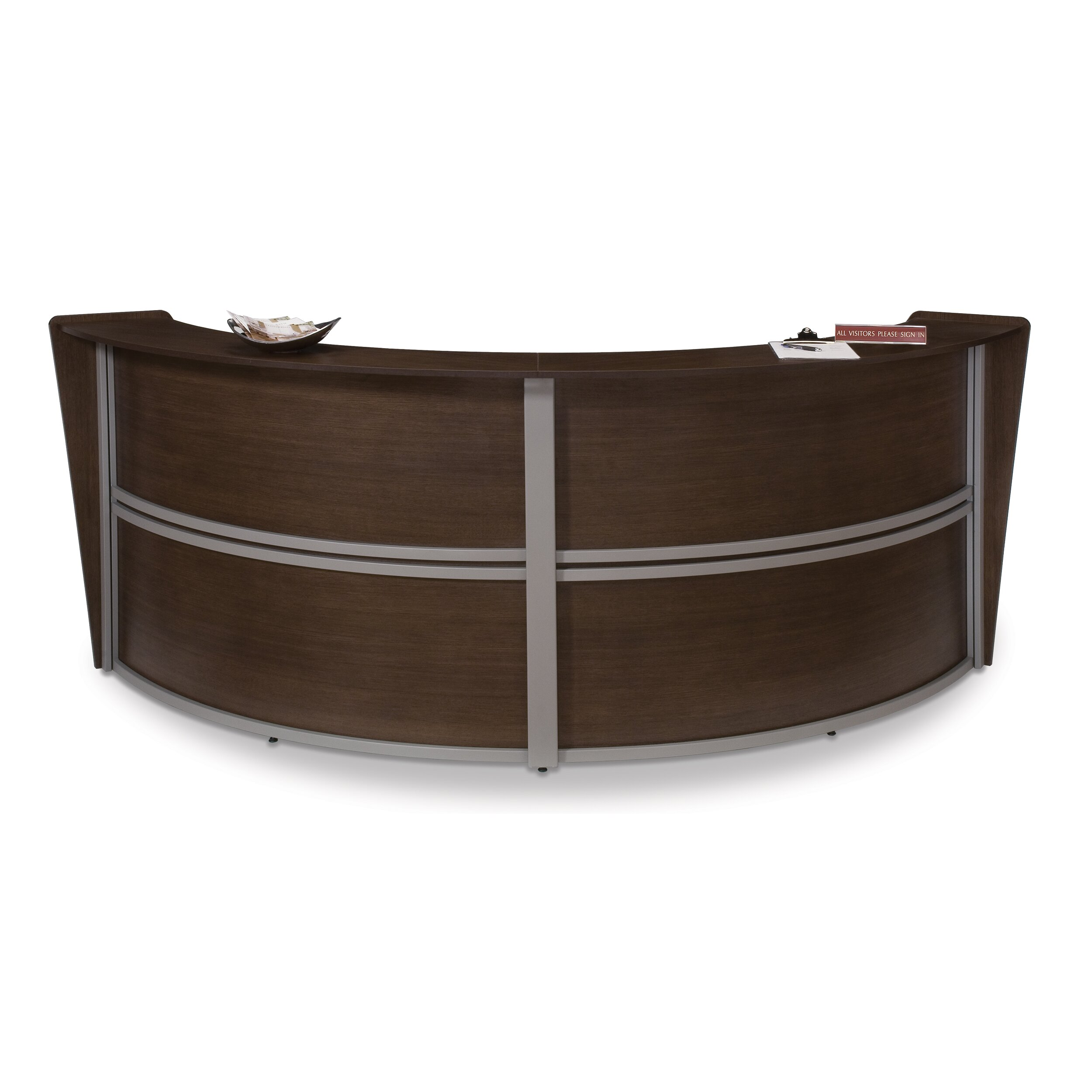 Marque Series Double Unit Curved Reception Station Wayfair