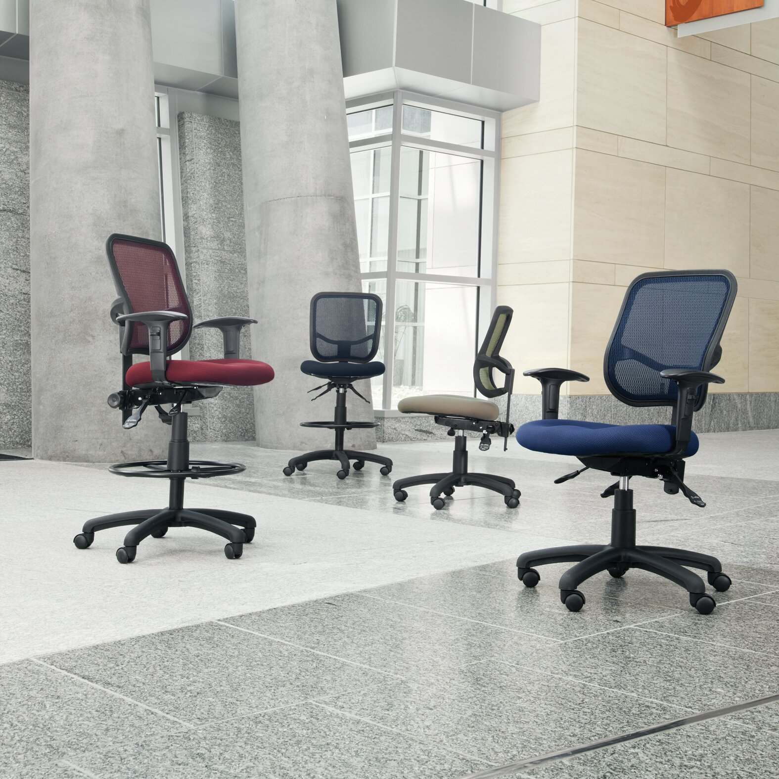 ... Comfort Series Ergonomic Mesh Swivel Armless Task Chair