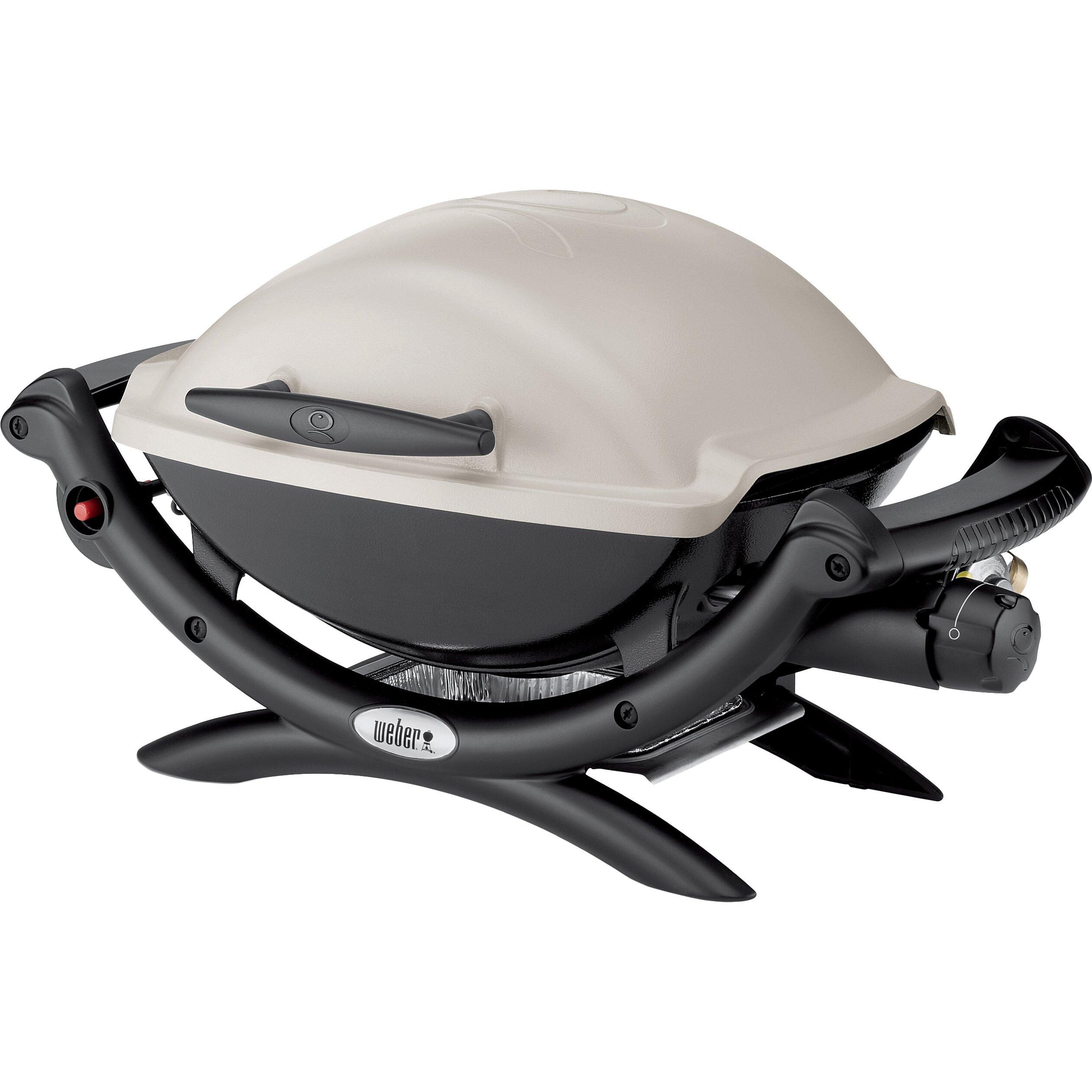 q series 1000 lp titanium portable gas grill wayfair. Black Bedroom Furniture Sets. Home Design Ideas