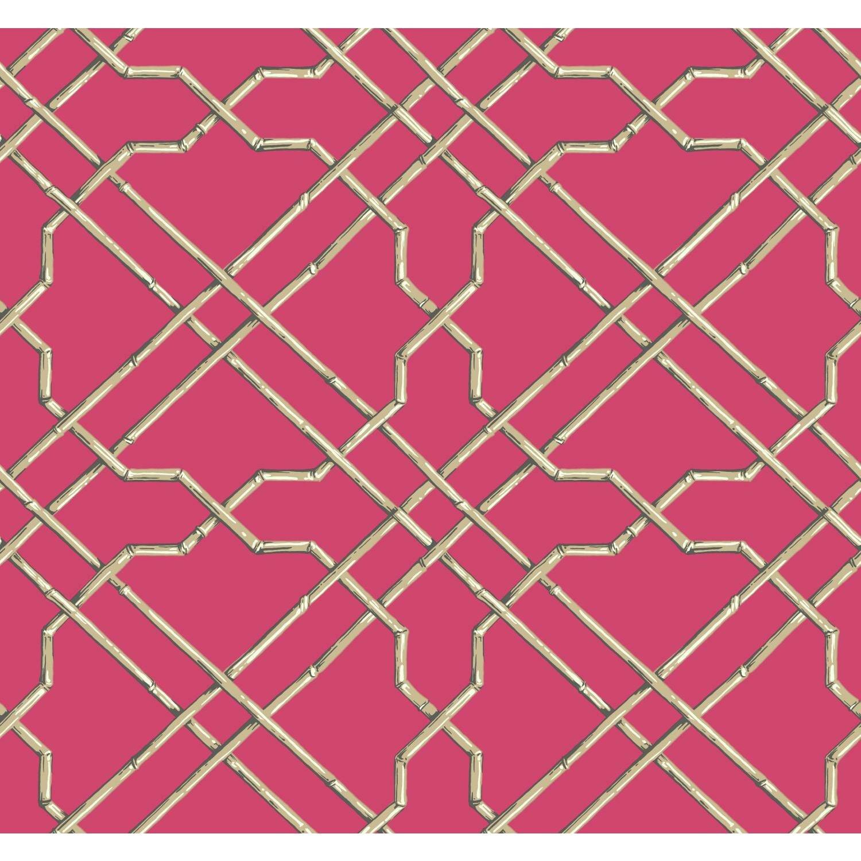 "Lattice Wallpaper: York Wallcoverings Ashford Tropics 27' X 27"" Trellis"