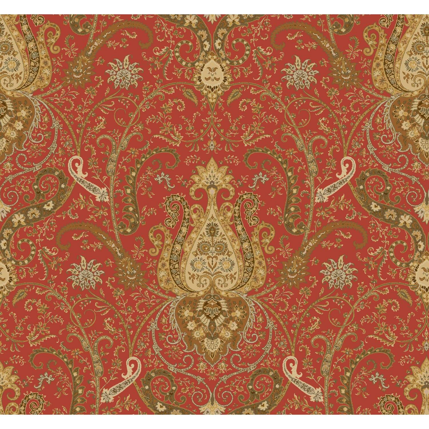 York wallcoverings waverly byzance 27 39 x 27 paisley for Waverly wallpaper