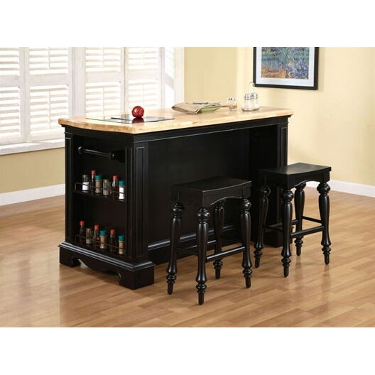 powell kitchen islands pennfield kitchen island with granite top wayfair 1620
