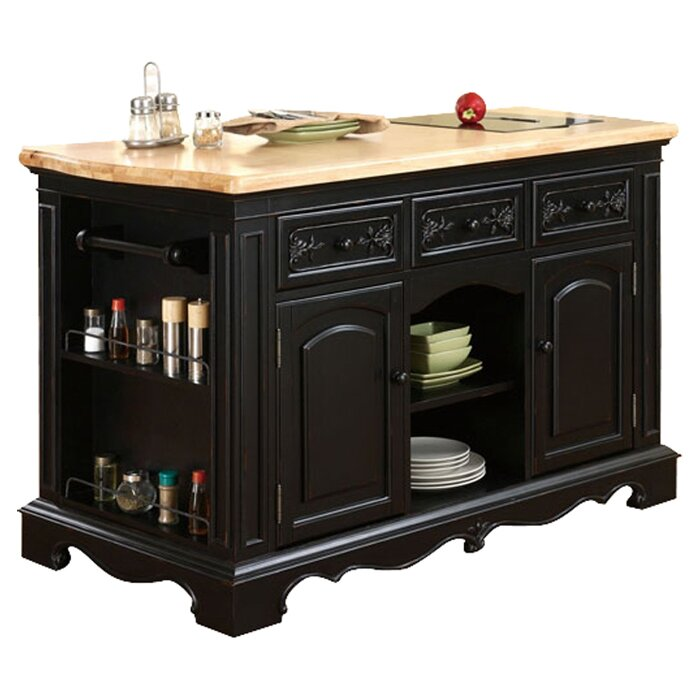 pennfield kitchen island powell pennfield kitchen island with granite top amp reviews 14534