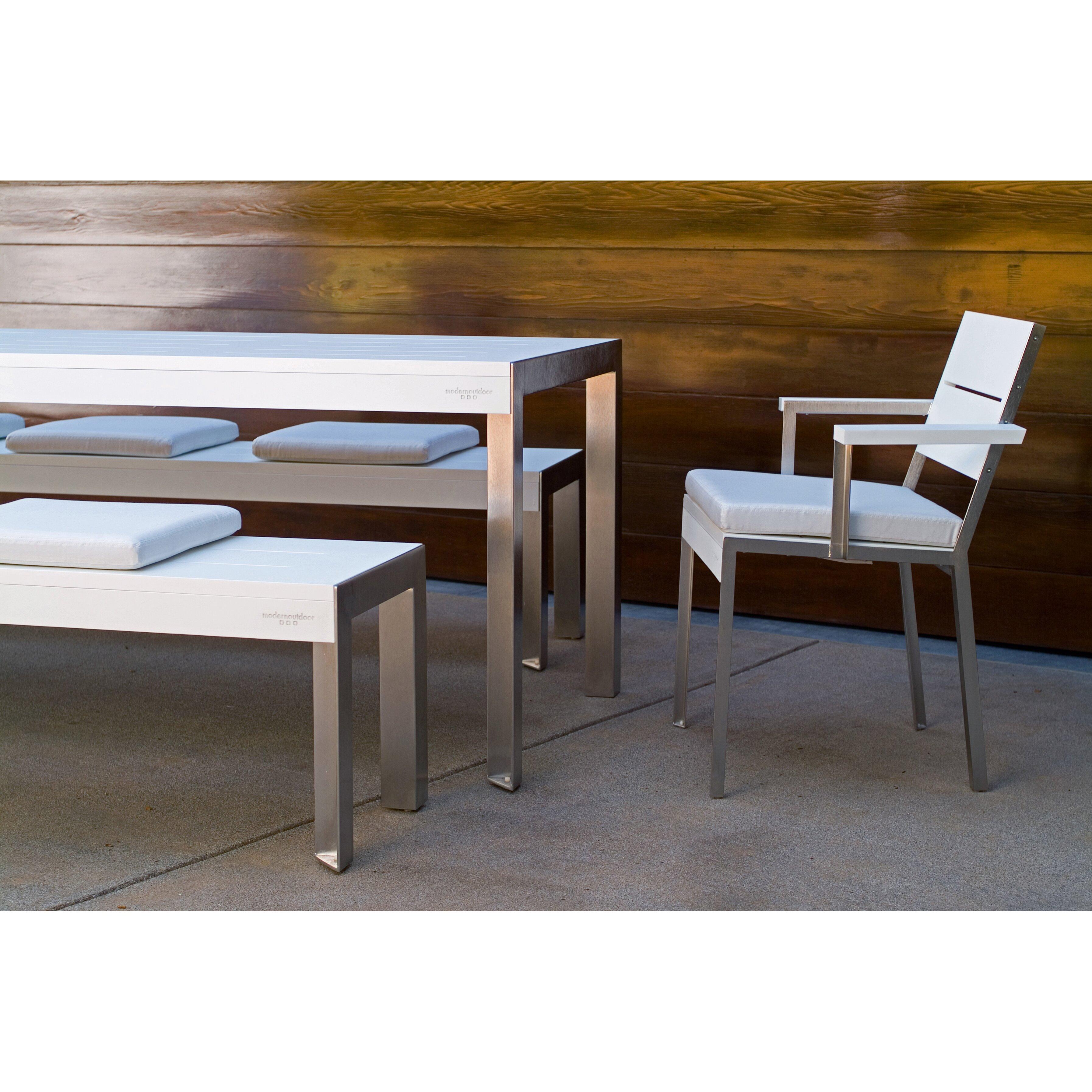 Contemporary Outdoor Benches: Modern Outdoor Etra Small Bench