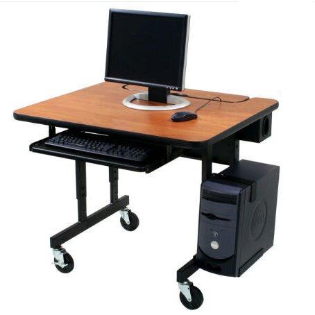 Classic flip top workstation computer desk for Flip top computer desk