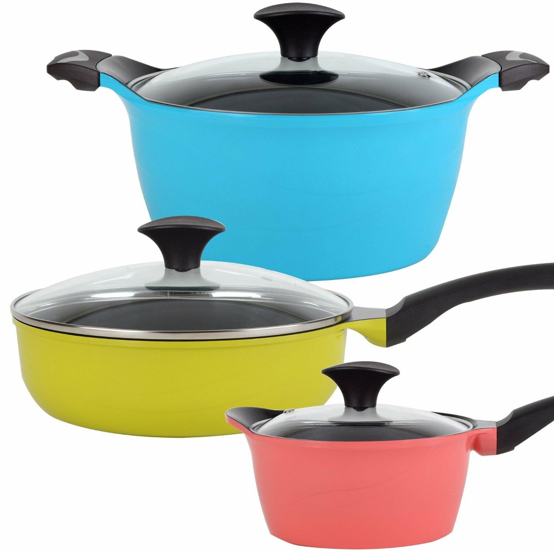 Vremi Colorful Nonstick Ceramic 3-Piece Cookware Set Review |Colorful Ceramic Cookware