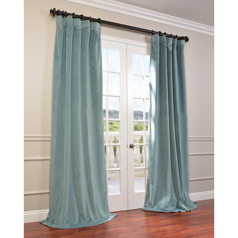 drapes signature velvet blackout curtain panel reviews wayfair