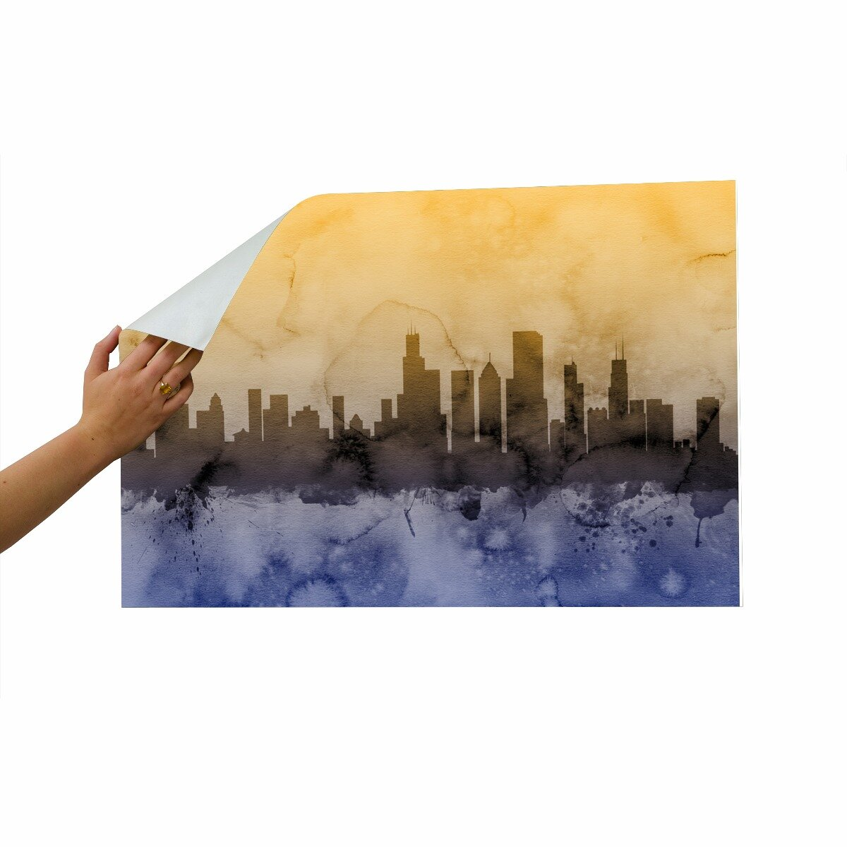 Americanflat chicago illinois skyline wall mural allmodern for Chicago skyline wall mural