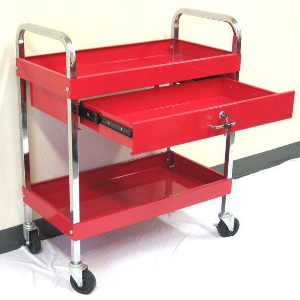 Metal Utility Cart: Excel Rolling Metal Utility Cart & Reviews