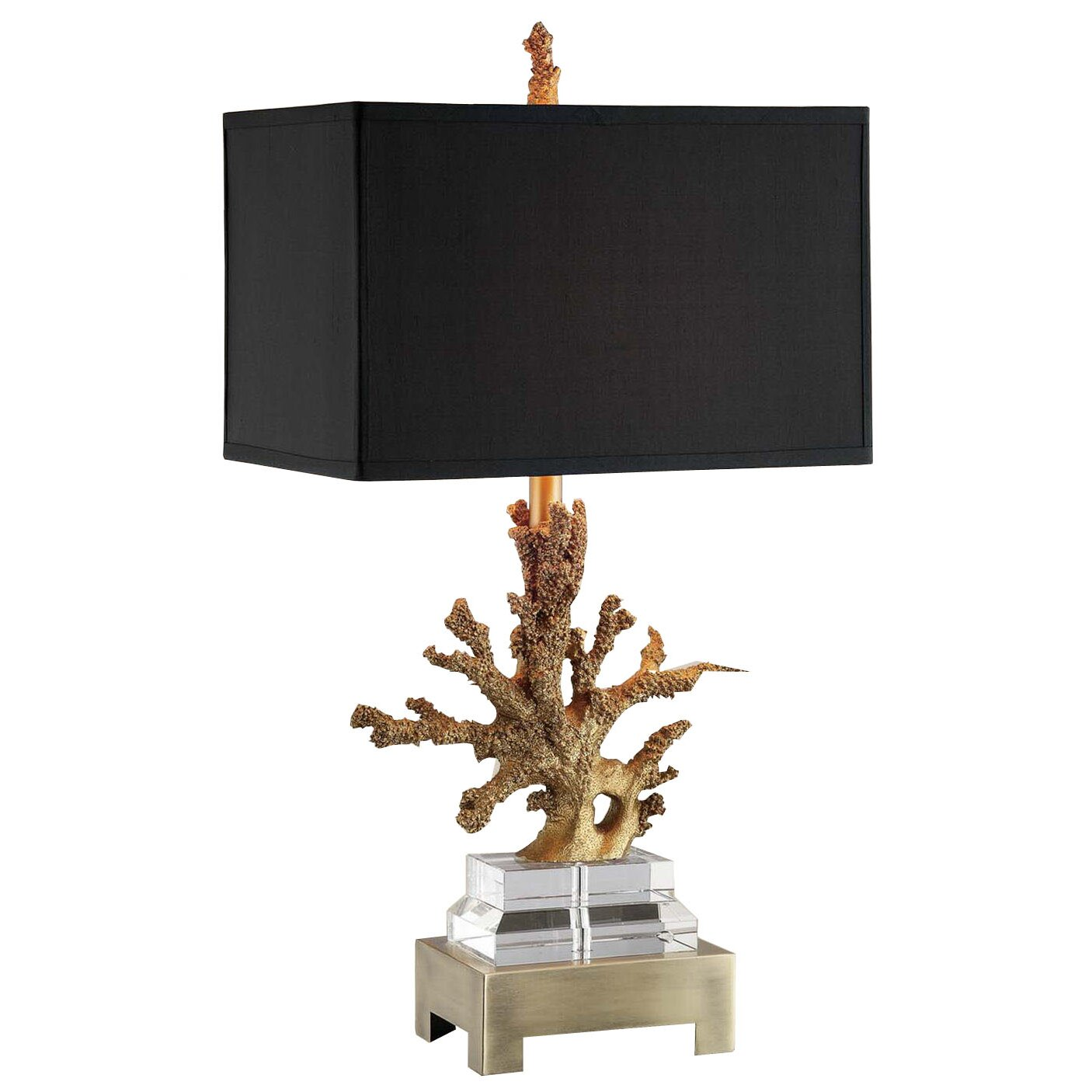 lighting lamps gold table lamps amita trading sku xnc1041. Black Bedroom Furniture Sets. Home Design Ideas