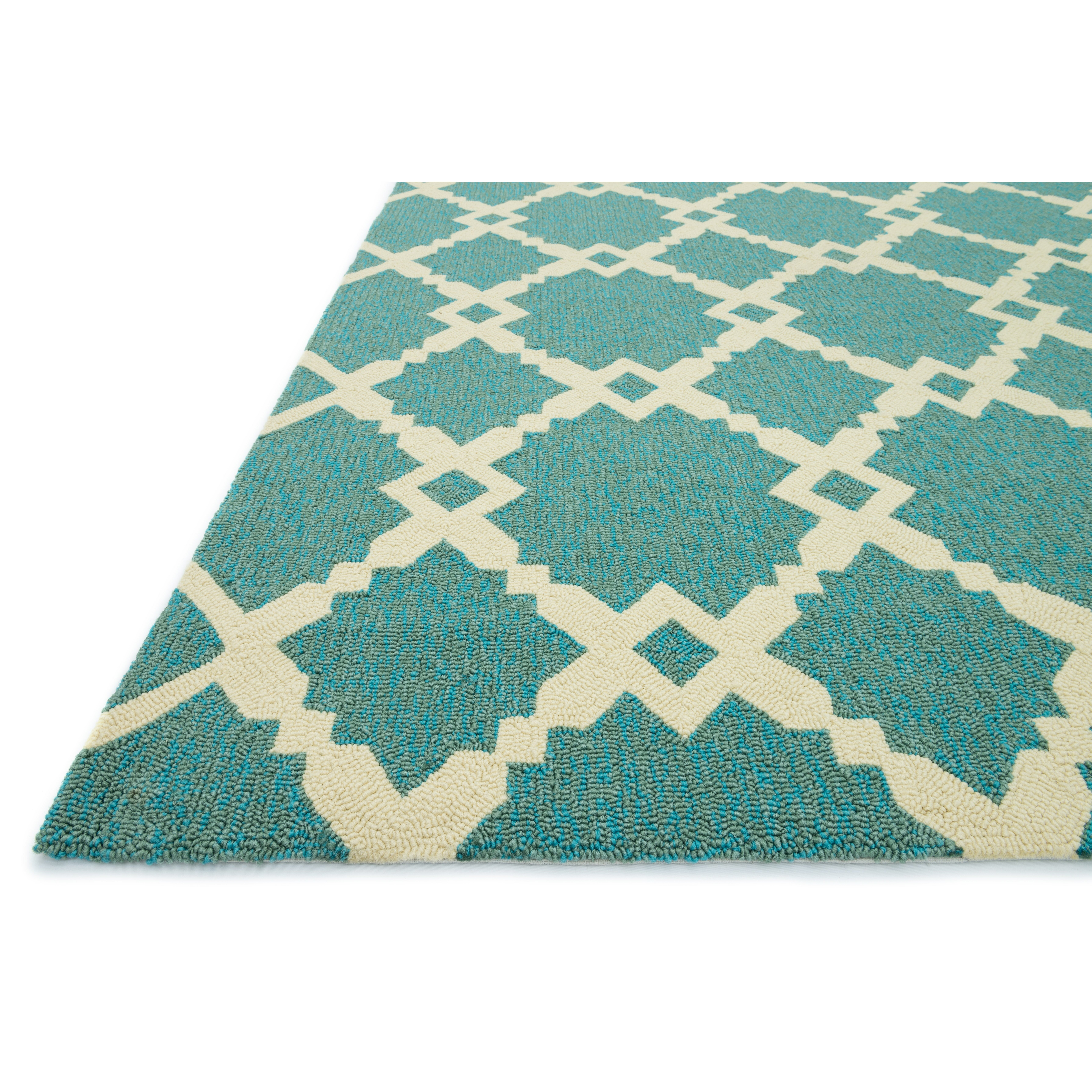 Coral And Turquoise Outdoor Rug: Loloi Rugs Ventura Geometric Turquoise/Ivory Indoor