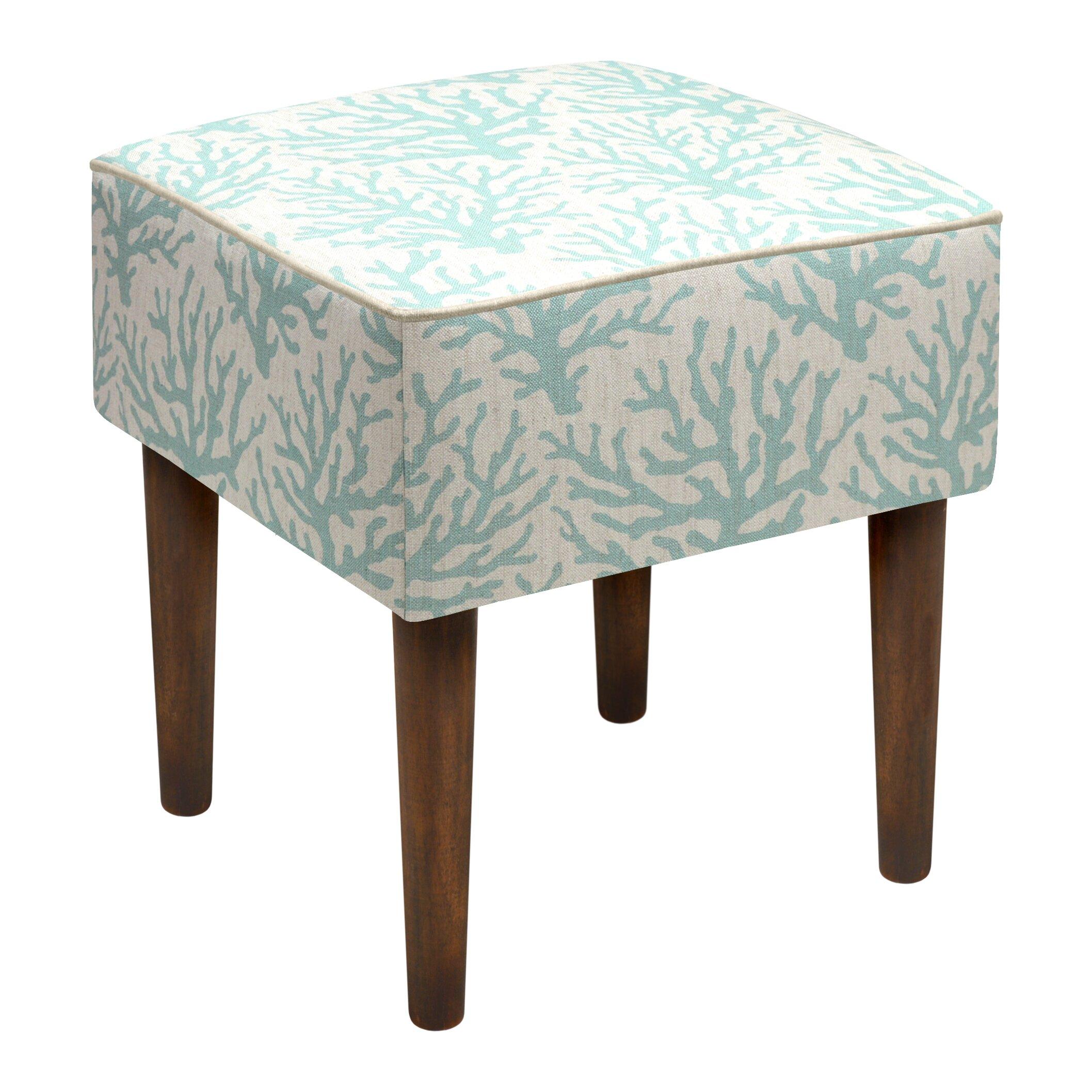 linen upholstered modern vanity stool wayfair