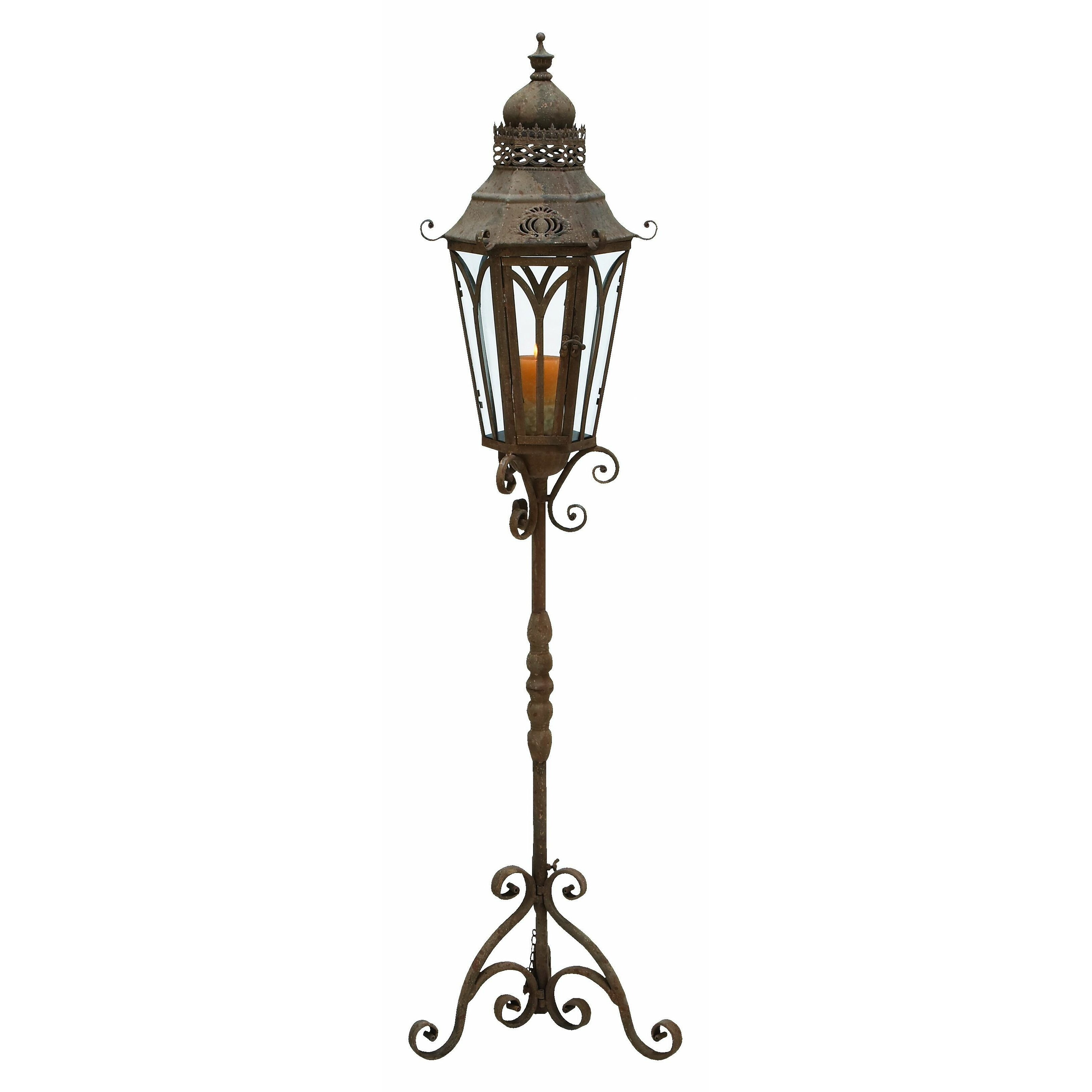 Outside Candle Holders: Outdoor Lantern With Stand