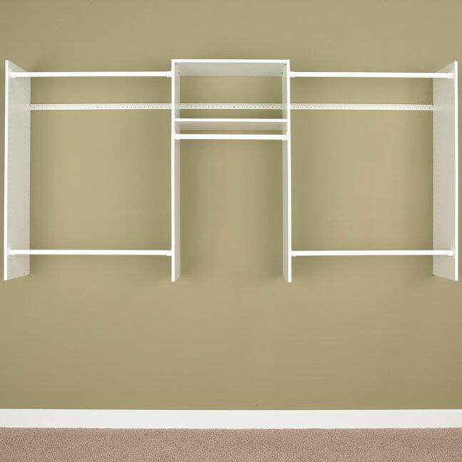 easy track 48 96 wide adjustable closet system reviews wayfair. Black Bedroom Furniture Sets. Home Design Ideas