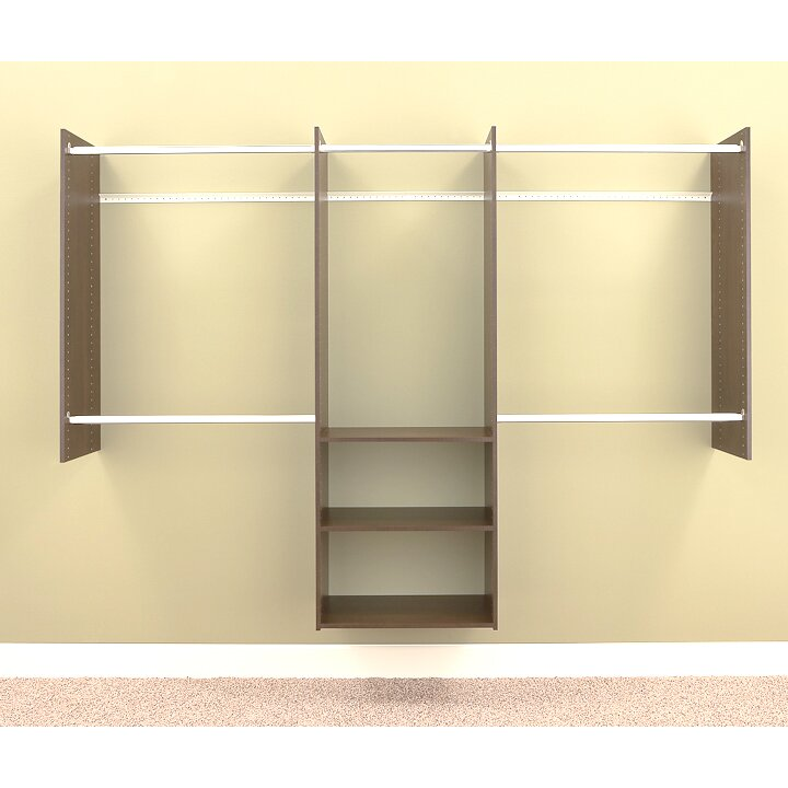 easy track deluxe 96 wide closet system reviews wayfair. Black Bedroom Furniture Sets. Home Design Ideas