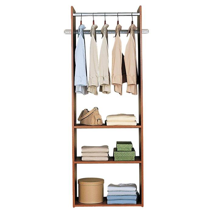 24 wide closet system wayfair. Black Bedroom Furniture Sets. Home Design Ideas