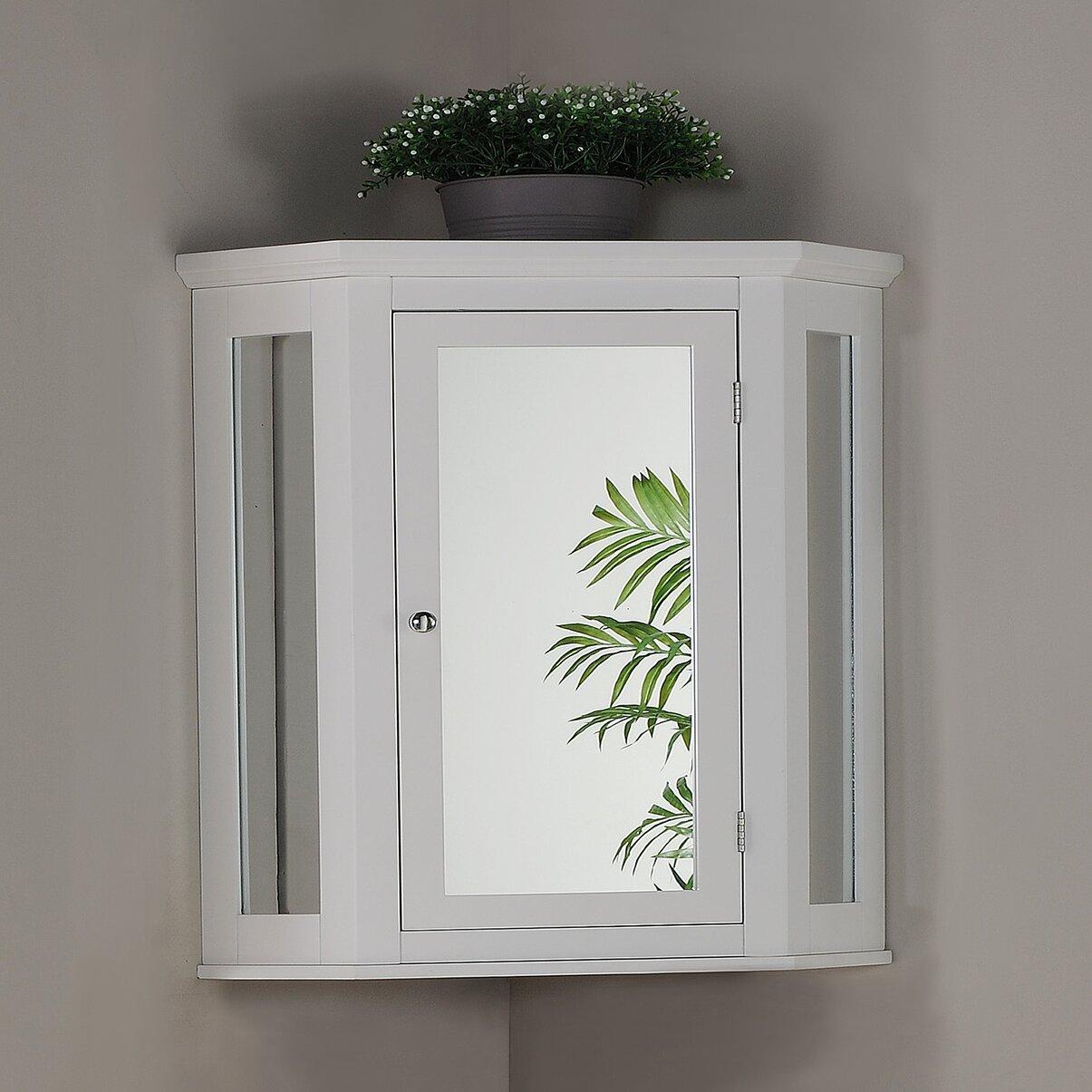 Elegant home fashions wales 22 5 x 24 corner wall - Corner wall cabinets for bathroom ...