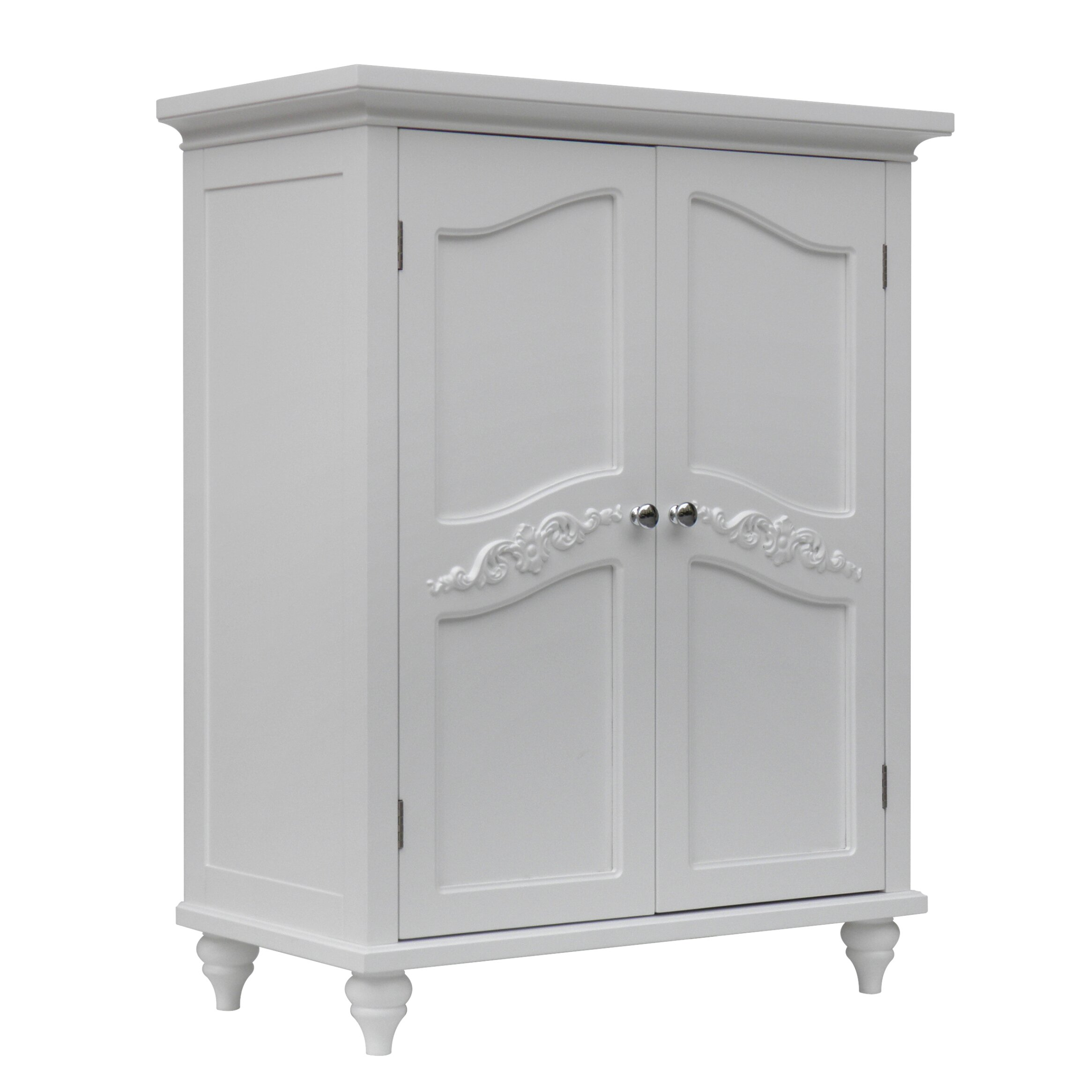 Elegant home fashions versailles 27 x 34 free standing - Free standing linen cabinets for bathroom ...