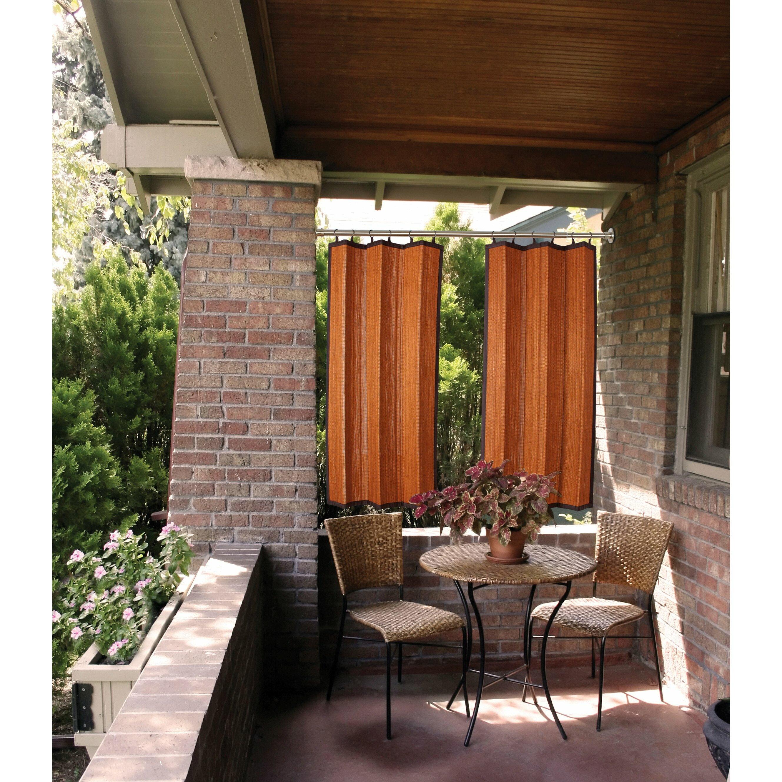 Bamboo Indoor Outdoor Curtain Panel Joss Main